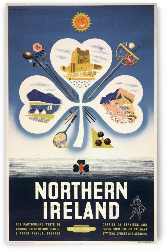 Vintage BR Irish Shamrock Travel poster by VINTAGE POSTER