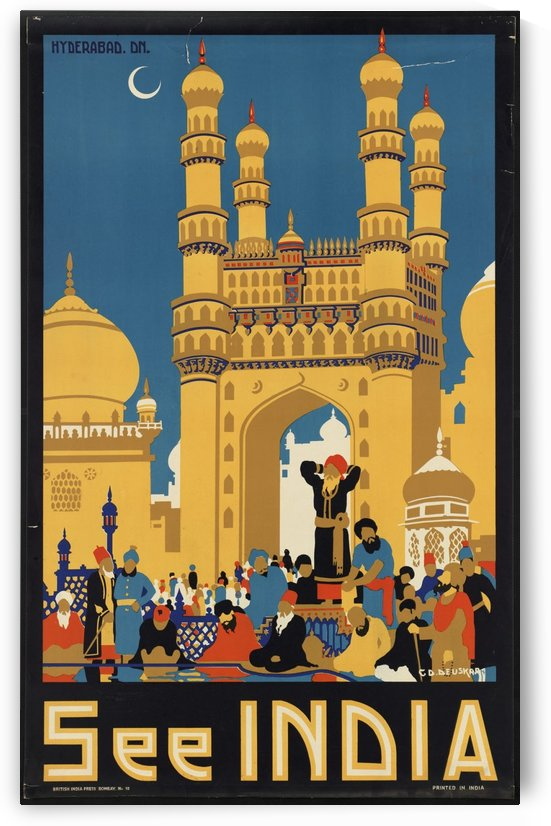 See India by VINTAGE POSTER