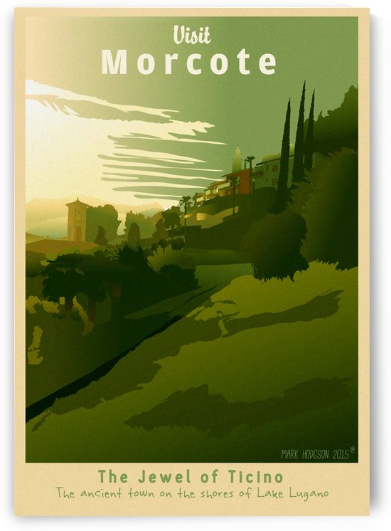 Visit Morcote by VINTAGE POSTER