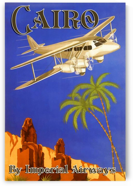 Cairo By Imperial Airways by VINTAGE POSTER