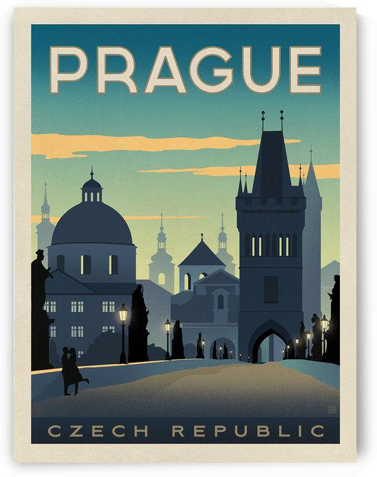 Prague vintage travel poster by VINTAGE POSTER