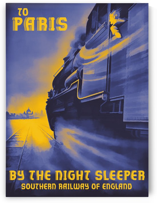 To Paris by VINTAGE POSTER