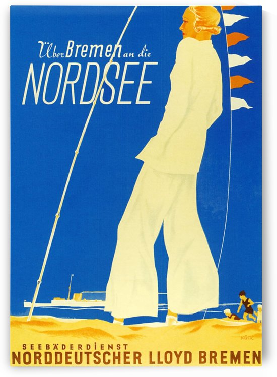 Nordsee vintage German travel poster by VINTAGE POSTER