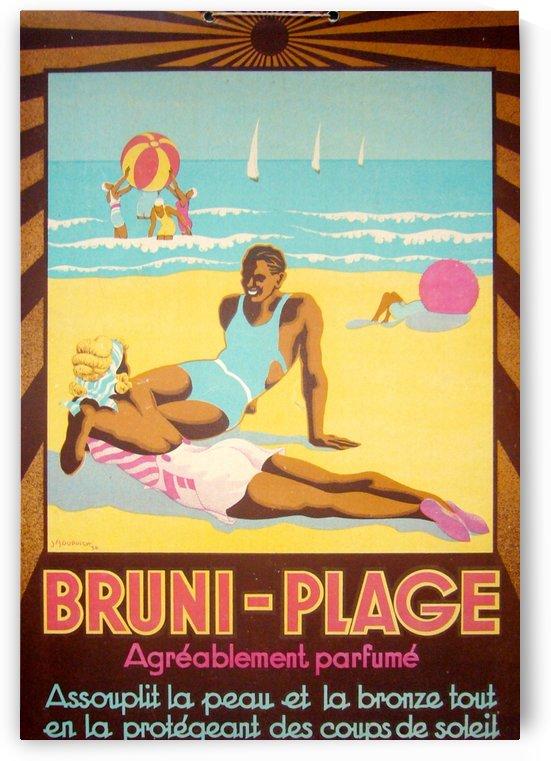 Bruni Plage by VINTAGE POSTER