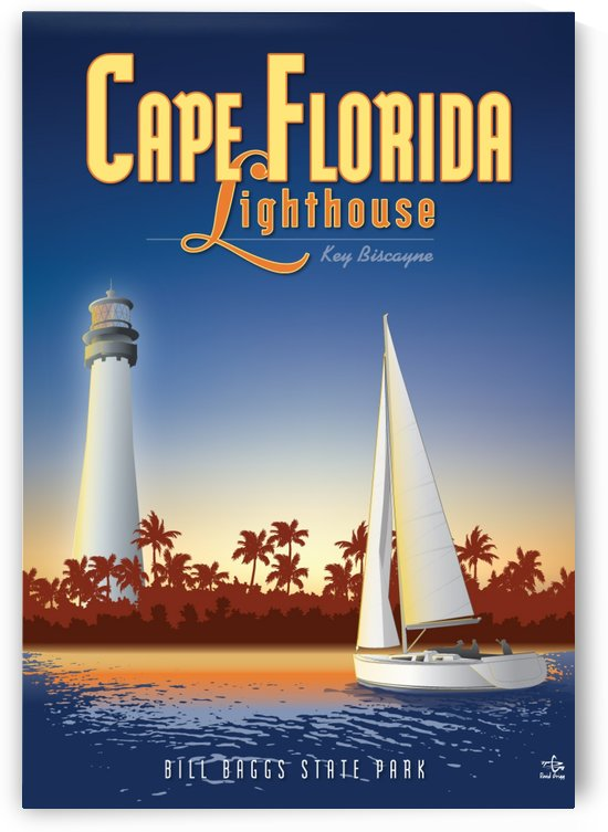 Cape Florida Lighthouse by VINTAGE POSTER