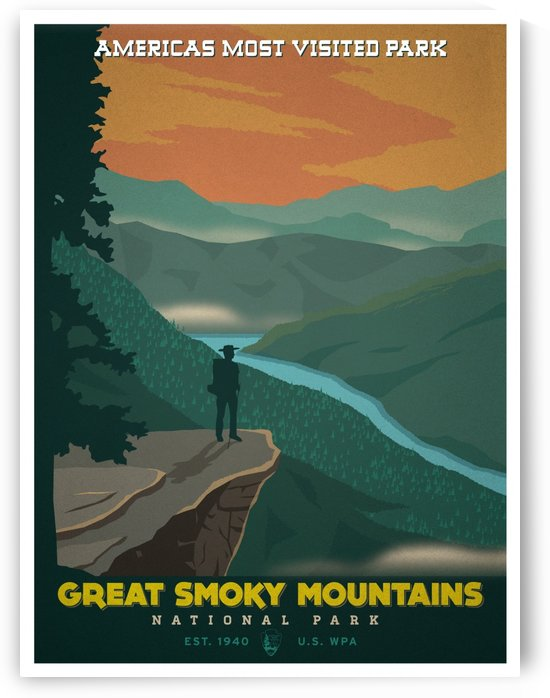 Great Smoky Mountains by VINTAGE POSTER