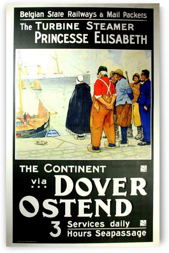 Belgian state railways, original vintage steamer poster by VINTAGE POSTER