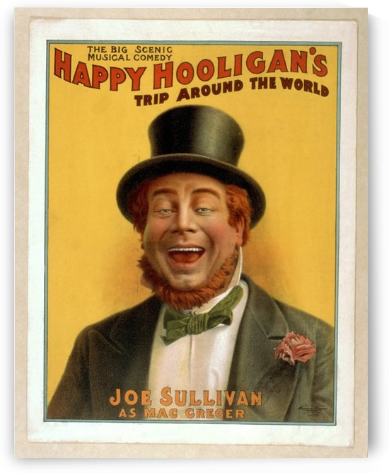 Happy Hooligan's Trip around the world by VINTAGE POSTER