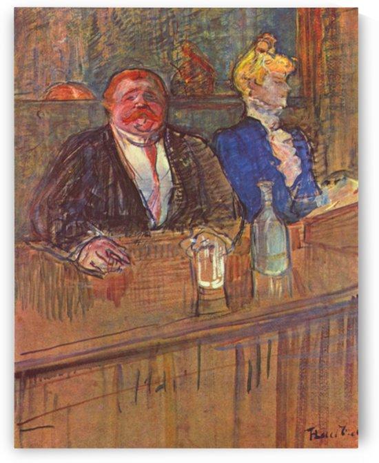 The bar by Toulouse-Lautrec by Toulouse-Lautrec