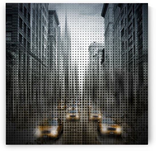 Graphic Art NYC 5th Avenue Traffic V by Melanie Viola