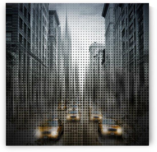 Graphic Art NYC 5th Avenue Traffic V by Melanie Viola