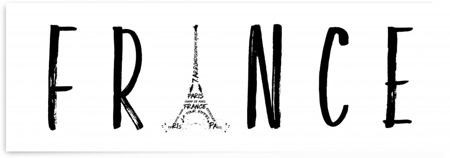 FRANCE Typography | Panoramic by Melanie Viola