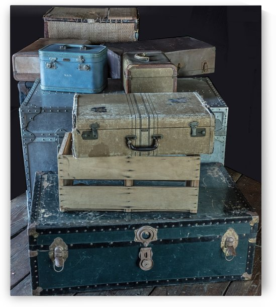 Vintage Luggage by Melody Rossi