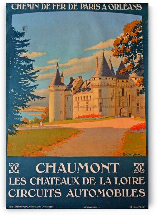 Chaumont Les Chateux de la Loire Circuits Automobiles by VINTAGE POSTER
