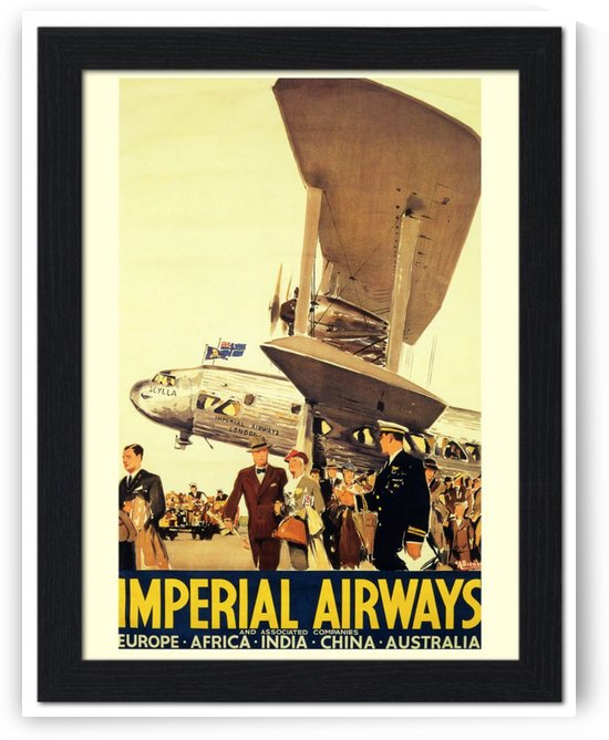 Imperial Airways travel poster, 1950 by VINTAGE POSTER