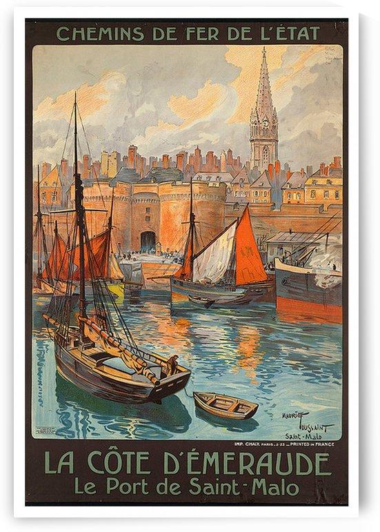Le Port de Saint Malo by VINTAGE POSTER