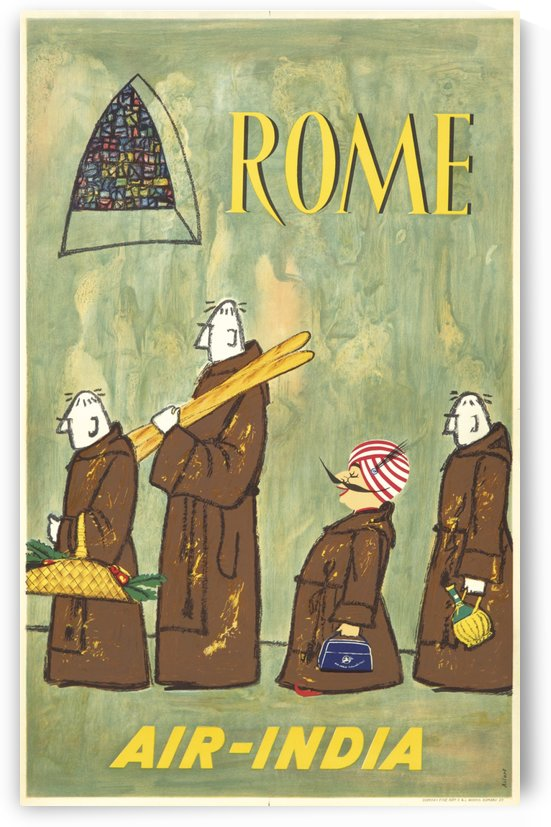 Rome Air India by VINTAGE POSTER