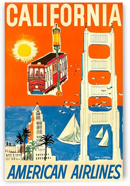 California American Airlines poster by VINTAGE POSTER