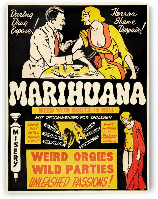 Marihuana poster in 1936 by VINTAGE POSTER