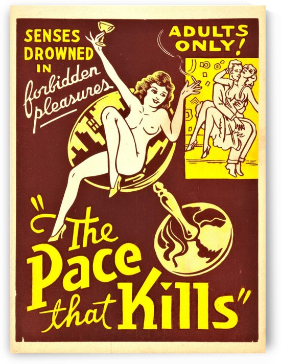 The pace that kills by VINTAGE POSTER
