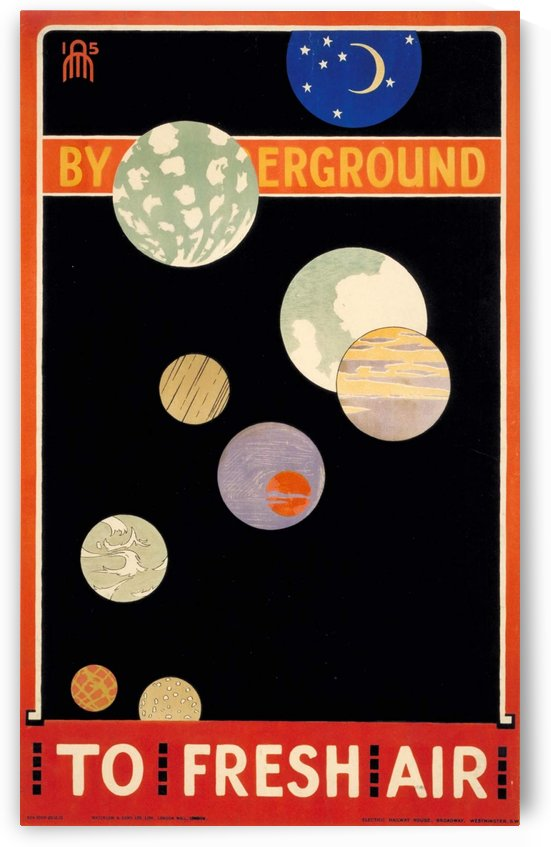 By Underground To fresh Air poster 1915 by VINTAGE POSTER