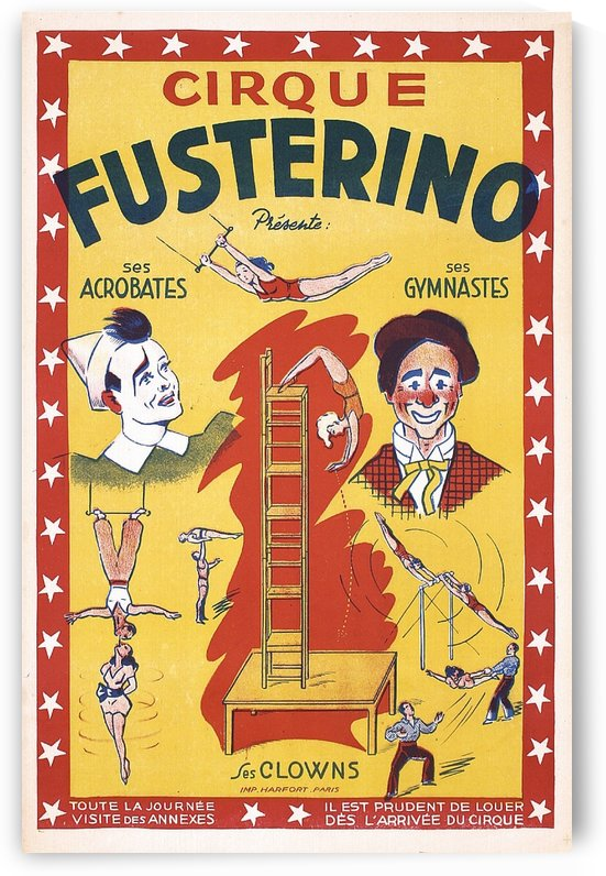 1930 French Circus Fusterino Poster by VINTAGE POSTER