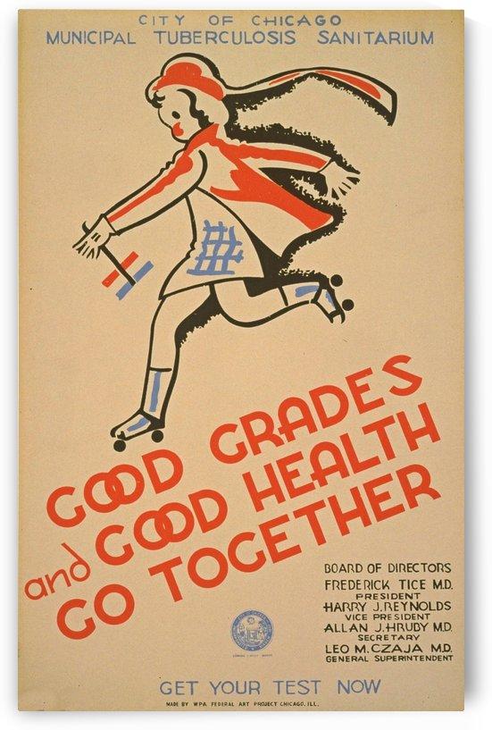 Chicago Municipal Tuberculosis Sanitarium poster promoting tuberculosis testing by VINTAGE POSTER
