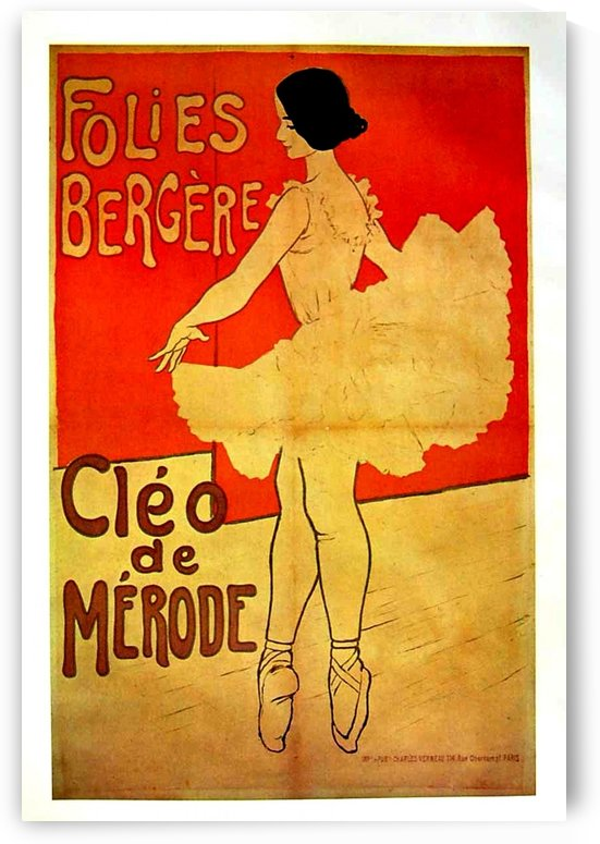 Folies Bergere Cleo de Merode by VINTAGE POSTER
