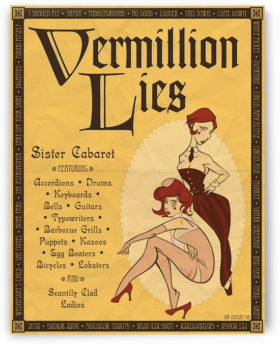 Vermillion Lies Sister Cabaret by VINTAGE POSTER
