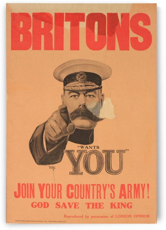 Britons wants you by VINTAGE POSTER