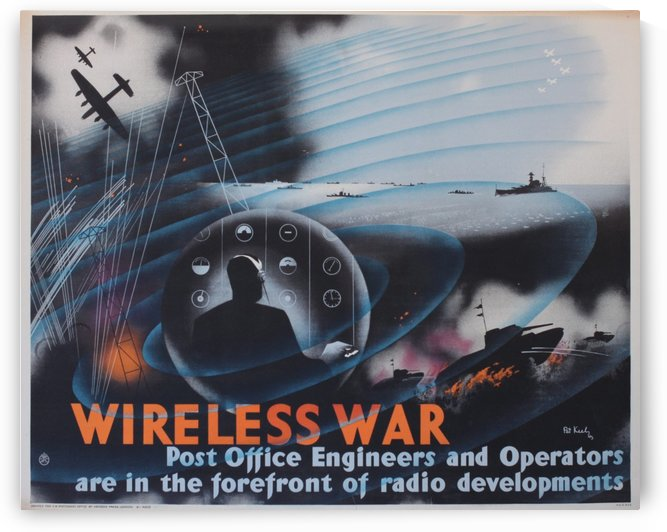 Wireless war by VINTAGE POSTER