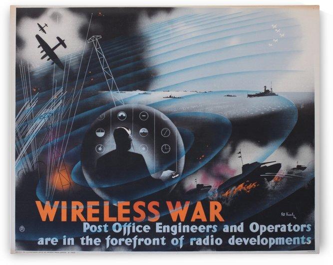 Wireless war by VINTAGE POSTER