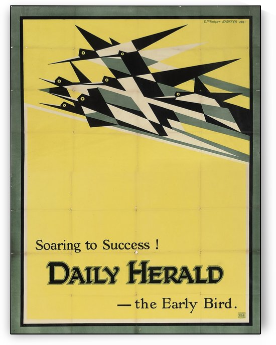 1919 Daily Herald poster by VINTAGE POSTER