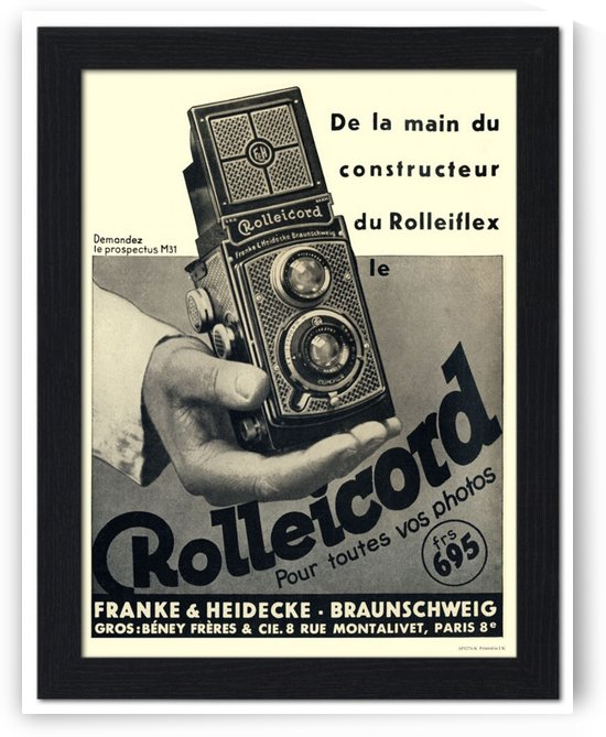 Rolleicord Camera Advert, France 1930 by VINTAGE POSTER