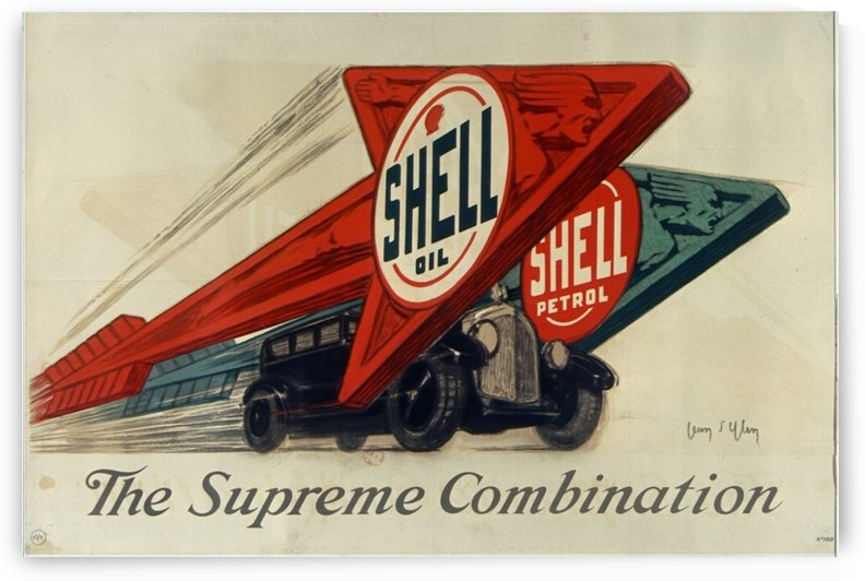 Shell oil Shell petrol The Supreme Combination by VINTAGE POSTER