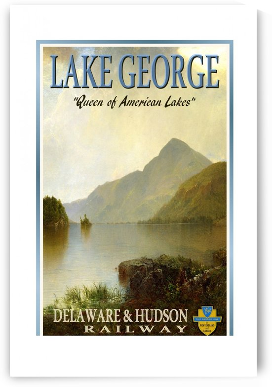 Lake George Delaware and Hudson Railway train travel poster by VINTAGE POSTER