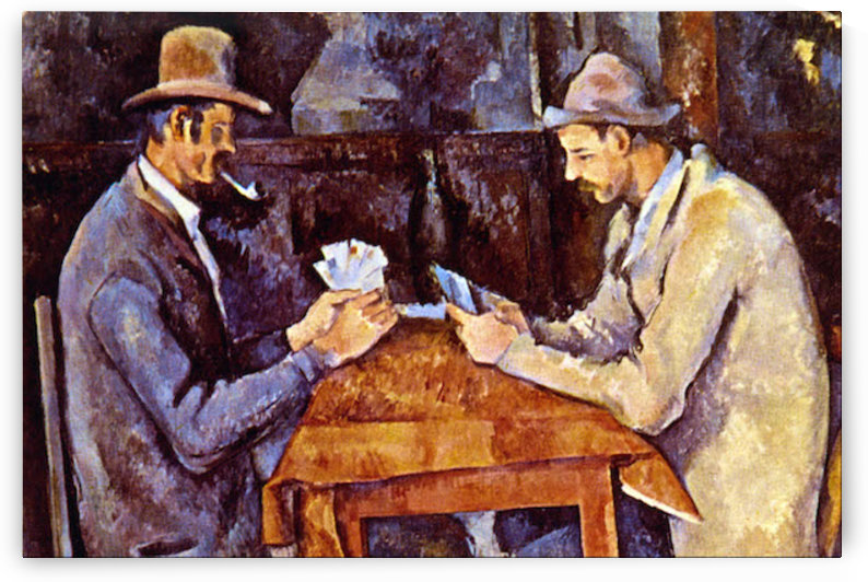 The Card Players by Cezanne by Cezanne