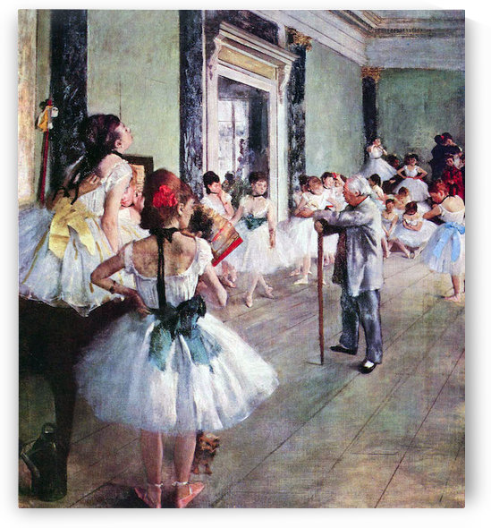 The dance class by Degas by Degas