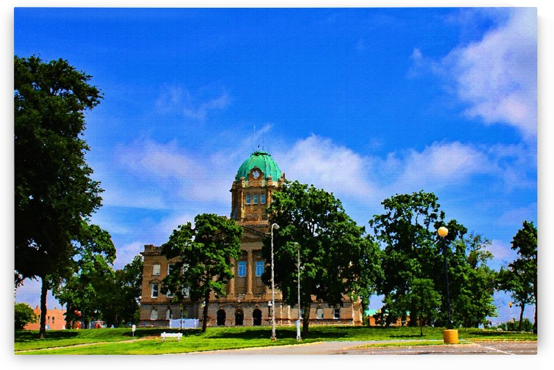 Kankakee Courthouse by Don  Baker