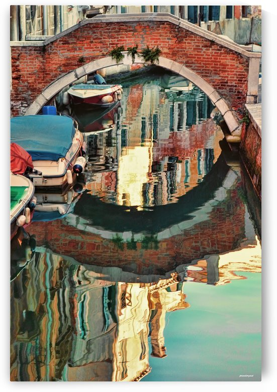 reflection venice italy  by tom Prendergast