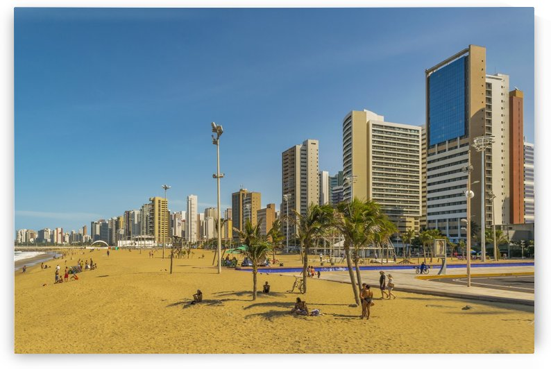 Beach and Buildings of Fortaleza Brazil1 by Daniel Ferreia Leites Ciccarino