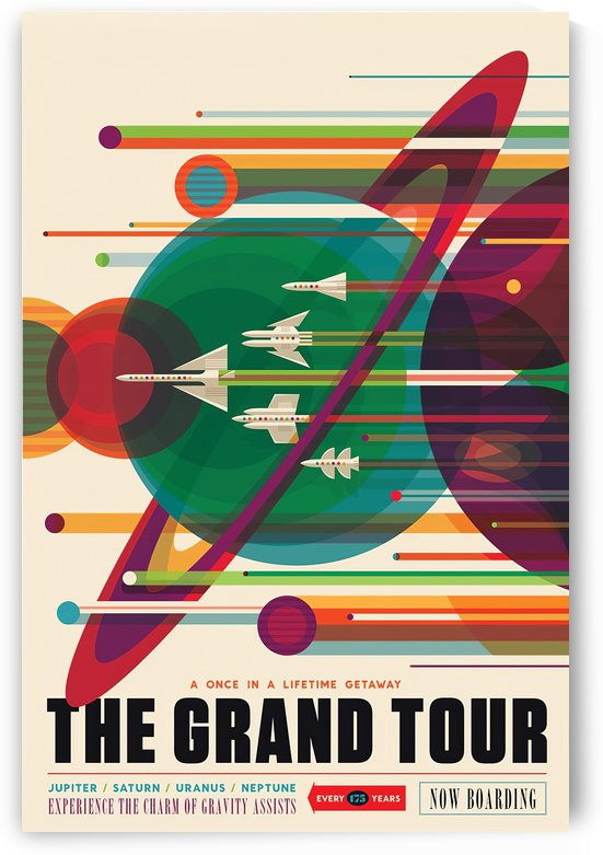 Visions of the Future NASA space exploration poster by VINTAGE POSTER