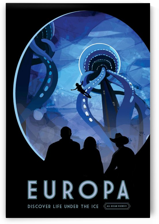 Europa - Discover life under the ice by VINTAGE POSTER