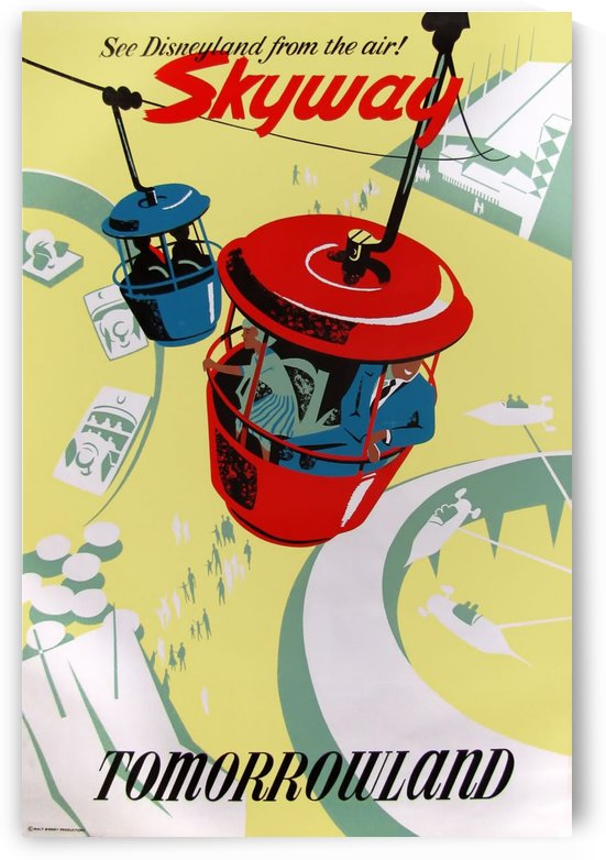 Skyway Tomorrowland by VINTAGE POSTER