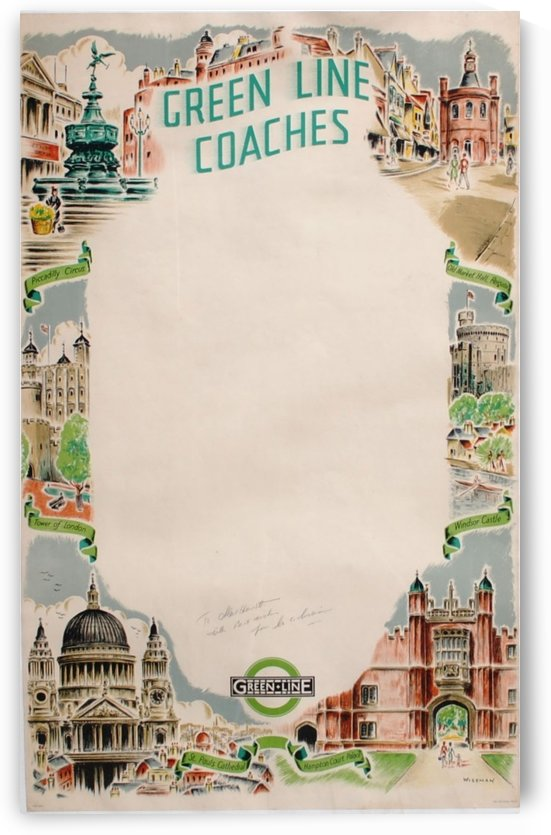 Green line coaches by VINTAGE POSTER