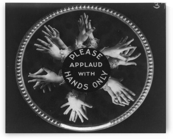 Please applaud with hands only by VINTAGE POSTER
