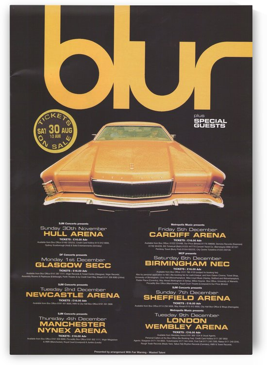 Blur by VINTAGE POSTER