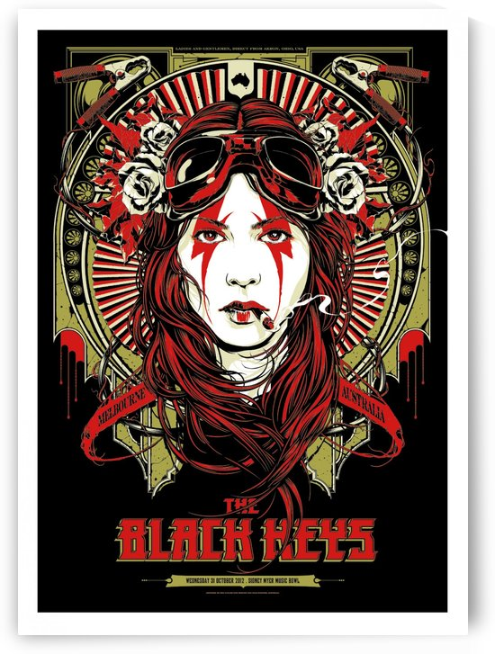 The Black Keys by VINTAGE POSTER