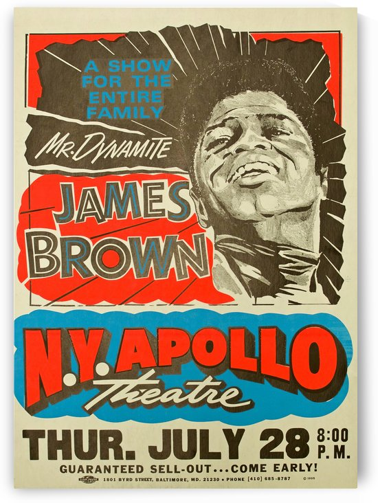 James Brown by VINTAGE POSTER
