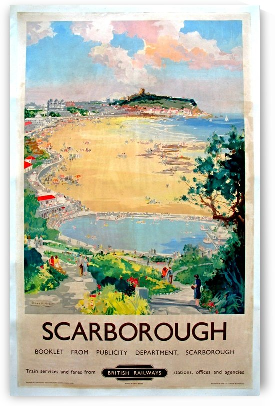 Original Railway Poster Scarborough by VINTAGE POSTER